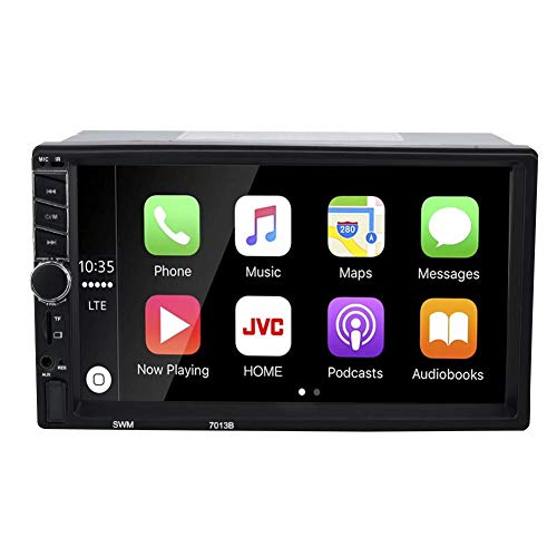 Garsent 2Din Autoradio, 7 Zoll Bildschirm Bluetooth MP5 Player Multimedia Video Player Unterstützung Freisprechfunktion, TF-Karte, AUX, Rückfahrkamera