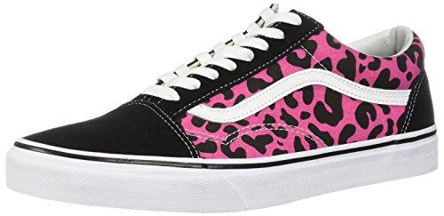 Vans U Old Skool (0K6) (Leopard) Pink/Schwarz, Schwarz ((Leopard) Pink/Black), 43 D(M) EU - Vans Schwarz Pink Schuhe Und