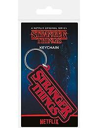 Logo Schlüsselanhänger Keyring Stranger Things 4,5x6 cm ca