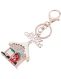 Generic Rhinestone Charming Decorated Christmas House Bag Wallet Purse Charms Key Ring Pendant Keychain Christmas...