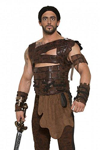 Drogo Kostüm (Braune Rüstung für Herren Game of Thrones LARP Kostüm Brust-Panzer Harnisch Gr.)