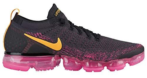 Nike Herren Air Vapormax Flyknit 2 Laufschuhe, Mehrfarbig (Gridiron/Laser Orange/Pink Blast/Black 008), 45.5 EU