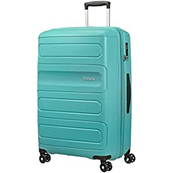 American Tourister Sunside Spinner 77 Extensible, 4.5 KG, 106/118L, Aero Turquoise