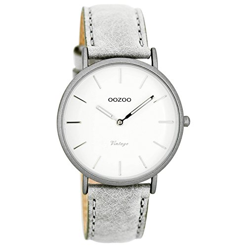 Oozoo Damen Digital Quarz Uhr mit Leder Armband C7745
