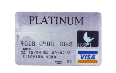 Hi-tech-global, chiave usb a forma di carta di credito, 32 gb, usb 2.0, flash drive platinum