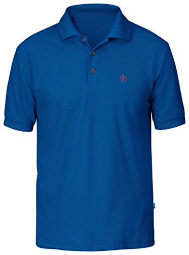 Fjällräven Herren Crowley Pique Shirt Poloshirts Bay Blue