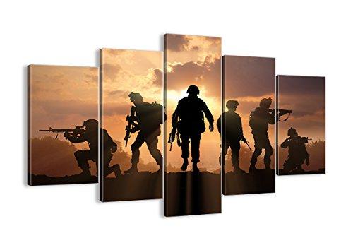 Bild auf Leinwand - Leinwandbilder - fünf Teile - Breite: 150cm, Höhe: 100cm - Bildnummer 2962 - fünfteilig - mehrteilig - zum Aufhängen bereit - Bilder - Kunstdruck - EA150x100-2962 -