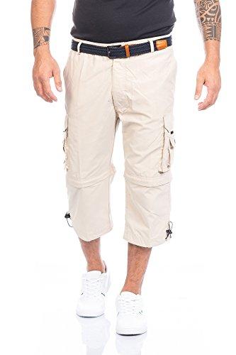 Beige Capri-hose (Fashion Herren Shorts Kurze Hose mit Dehnbund ID388, Größe:L;Farbe:Beige)
