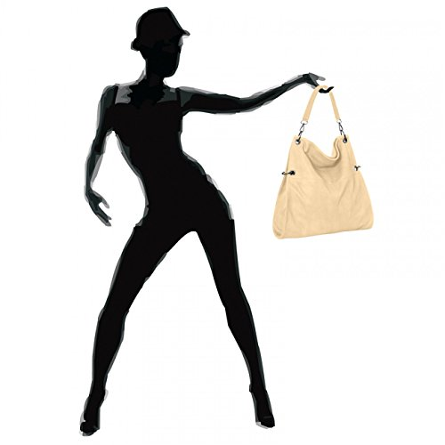 CASPAR Taschen & Accessoires, Borsa a spalla donna panna cotta