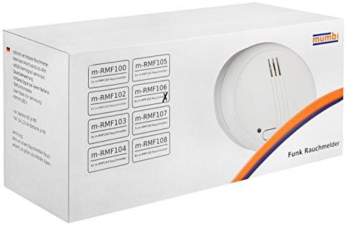 mumbi Funkrauchmelder RMF106 (6 Stück Funk Rauchmelder) - 2