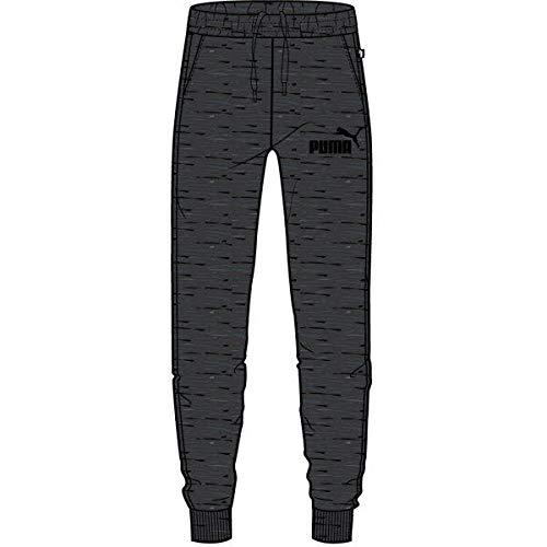 PUMA Herren ESS Logo Pants TR cl Jogginghose, Dark Gray Heather, L