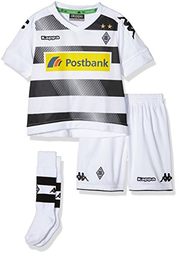 Kappa Kinder Borussia Mönchengladbach Heim Mini-Set Trikot, 001 White, 80/86