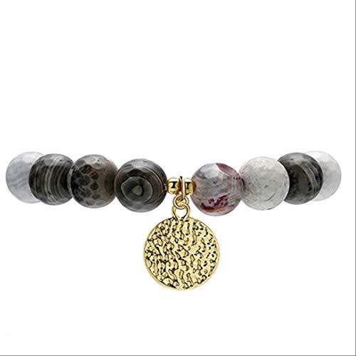 XYCC Armband mit Münz-Anhänger, Gelbgold, Minzperlen, Einzelarmband Bcset45, Farbe 2