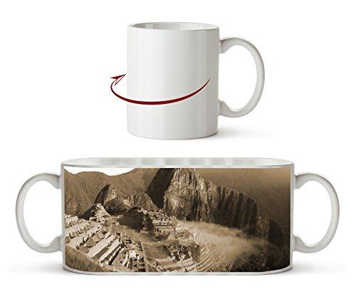 Machu Picchu Ruinenstadt in Peru Effekt: Sepia als Motivetasse 300ml, aus Keramik weiß, wunderbar als Geschenkidee oder ihre neue Lieblingstasse.