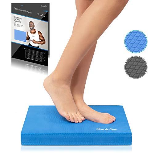 SportyAnis® Balance-Pad inkl. Übungsheft - Innovatives Balancekissen zur Stärkung der Tiefenmuskulatur und Steigerung von Balance, Stabilität und Gleichgewicht (Blau) -