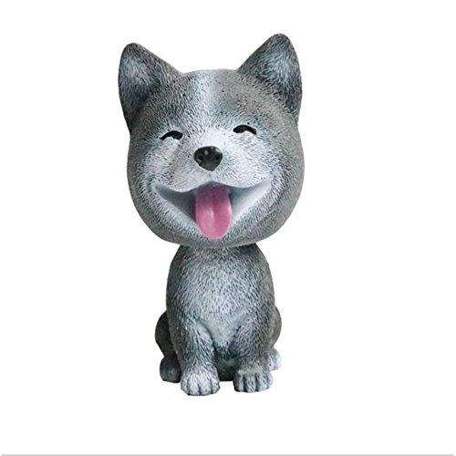 (Chakil Auto-Dekoration Wackelkopf Hund Auto Armaturenbrett Ornamente Spielzeug tanzend Tier Schaukelspielzeug Auto Dekoration)
