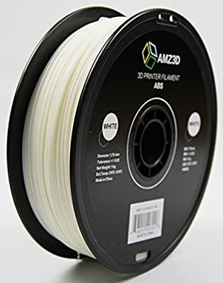 1.75mm White ABS 3D Printer Filament - 1kg Spool (2.2 lbs) - Dimensional Accuracy +/- 0.03mm