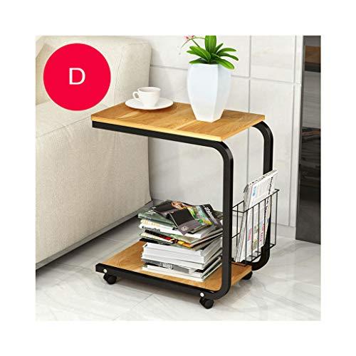 Glas-büro, Konsole-tabelle (ELYSYSRL Couchtische Nachttisch Konsole mit bewegbar Mini Schlafzimmer Wohnzimmer Sofa Beistelltisch Einfach Kaffeetisch-D-20.08X11.81Zoll)
