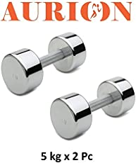 Aurion Turbo5 Steel Dumbell Set, 10Kg (Black)