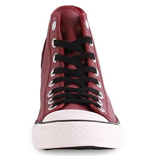 Converse - Chuck Taylor All Star Homme Vintage Leather Hola, Sneakers Da Donna (granate (oxblood))