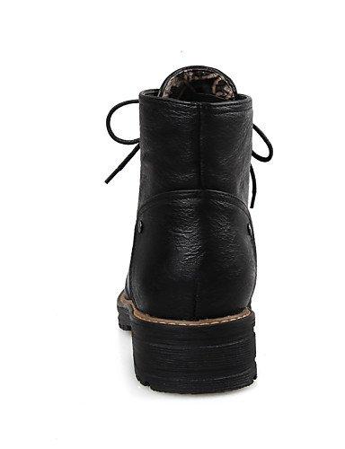 ShangYi Mode Frauen Schuhe Damenschuhe Ferse Mode Schuhe/Stiefel Runder/Casual Kleid Schwarz/Gelb/Grau Schwarz