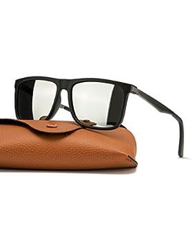 Espejo Gafas De Sol Hombre Wayfarer Polarizadas 100% Protección UVA UVB para Conducir Viajes Playa