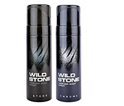 Wild Stone Chrome, Stone Deodorant (pack of 2) 120ml each SF Wide Stone 46 SF Layer 59