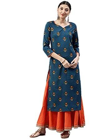 Vaamsi Women's A-Line Kurta (VPK1532_S_Blue_small)