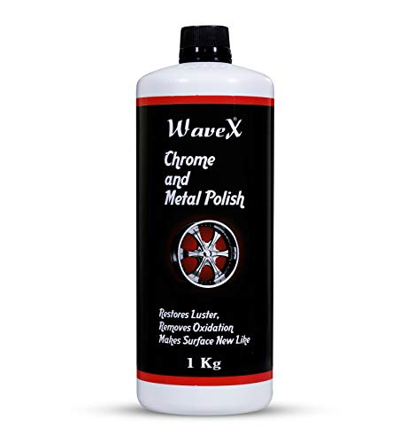 Wavex® Chrome and Metal Polish 1 Kg for Chrome, Copper, Brass, Bronza, Gold, Nickel and Stainless Steel. All Metal Cleaner, Polisher and Protectant.Removes Oxidation and Discoloration.