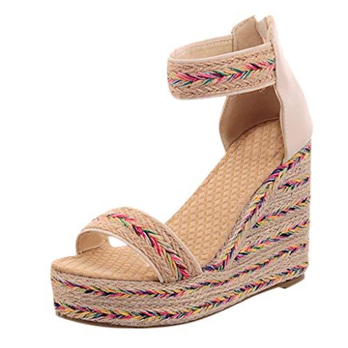 LuckyGirls Chic Sandalias Mujer Plataforma Cuña Verano 2020 Zapatos Mujer Tacon Altas Elegantes Alpargatas...