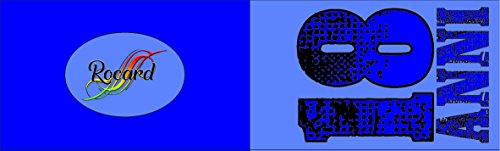 Rocard - bigliettini 18 anni maschili personalizzabili per confettata o bombonieriere (50 bigliettini)