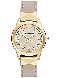 Karl Lagerfeld KL3807 - Reloj con correa de cuero, para mujer, color gris / marrón