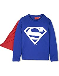 d47c56e5d0b6c Superman Official Licensed Boys Long Sleeve Top T Shirt Costume with Cape  100% Cotton 2