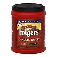 Folgers Classic Roast Ground Coffee, Medium Roast