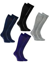 Rainbow Socks Calcetines LARGOS by ALGODÓN Peinado, PAQUETE Calcetines Hasta Rodilla Modernos para Todos los Días, Cómodos y Delicados | Para Mujeres y Hombres, Hecho en Europa
