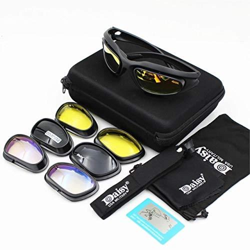 IYOUTHTIME Daisy X7 Herren Militär-Sonnenbrille, polarisiert, kugelsicher, Airsoftschießen, Gafas Smoke Linse, Motorradbrille C5-5