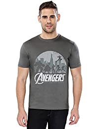 The Souled Store AVENGERS: Mightiest Heroes Superhero Graphic Printed GREY Cotton T-shirt for Men Women and Girls