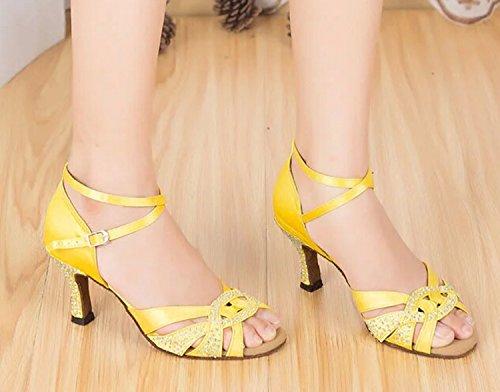 Yellow bal heel de 6cm Miyoopark femme Salle PqxIxzU