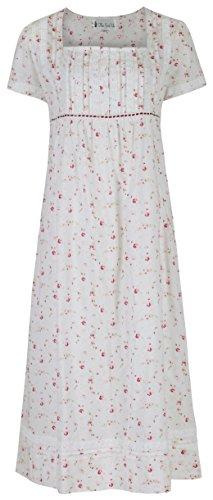 fürThe 1 for U 100% Baumwolle Nachthemd - Lara - mit Taschen Vintage Rose