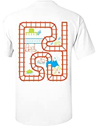 TRAIN ADVENTURE PLAY MAT T-SHIRT FATHERS DAY PRESENT GIFT DADDY'S T SHIRT CHILDRENS PLAY SHIRT BIRTHDAY GIFT