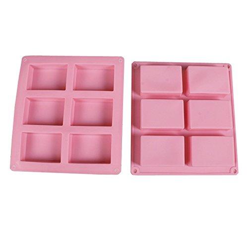 akooya 6auch Square Box Pink Silikon-Backform Manuelle Seife Form