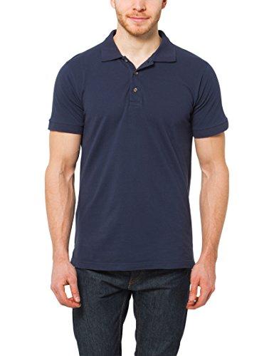 Lower East Herren Poloshirt Regular Fit Piqué, in verschiedenen Farben, Blau (Blau), XXX-Large (Herstellergröße: 3XL)