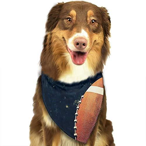 RAHJK Hunde Bandana,Weihnachts Kragen Schal Lätzchen, Dreieckstuch Halsbänder Haustier für Kleine, Mittelgroße Große Hunde Katzen Custume Amerikanischer Fußball
