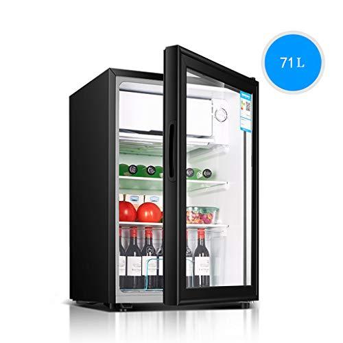 Unbekannt Kühlschrank, Glastür, leise Energieeinsparung, Kühlung und Erhaltung, Silber, 71L, 44x45x68cm