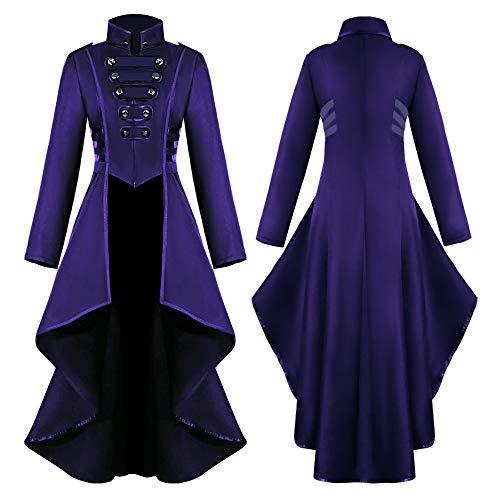 TianranRT Frauen Mantel,Fashion Steampunk Gothic Jacke Mit Spitze,Spitzenkorsett,Halloween Kostüm,Mantel,Schwanz Jacke,Lila(L) (Günstige Ausschnitt Schwimmen Kostüm)