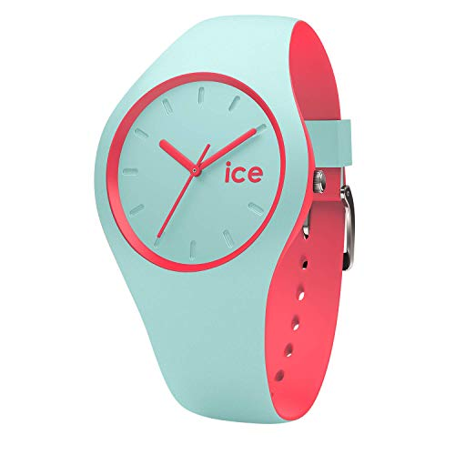 Ice-Watch - Ice Duo Mint Coral - Grüne Damenuhr mit Silikonarmband - 001490 (Small) (Mint Grün Und Coral)