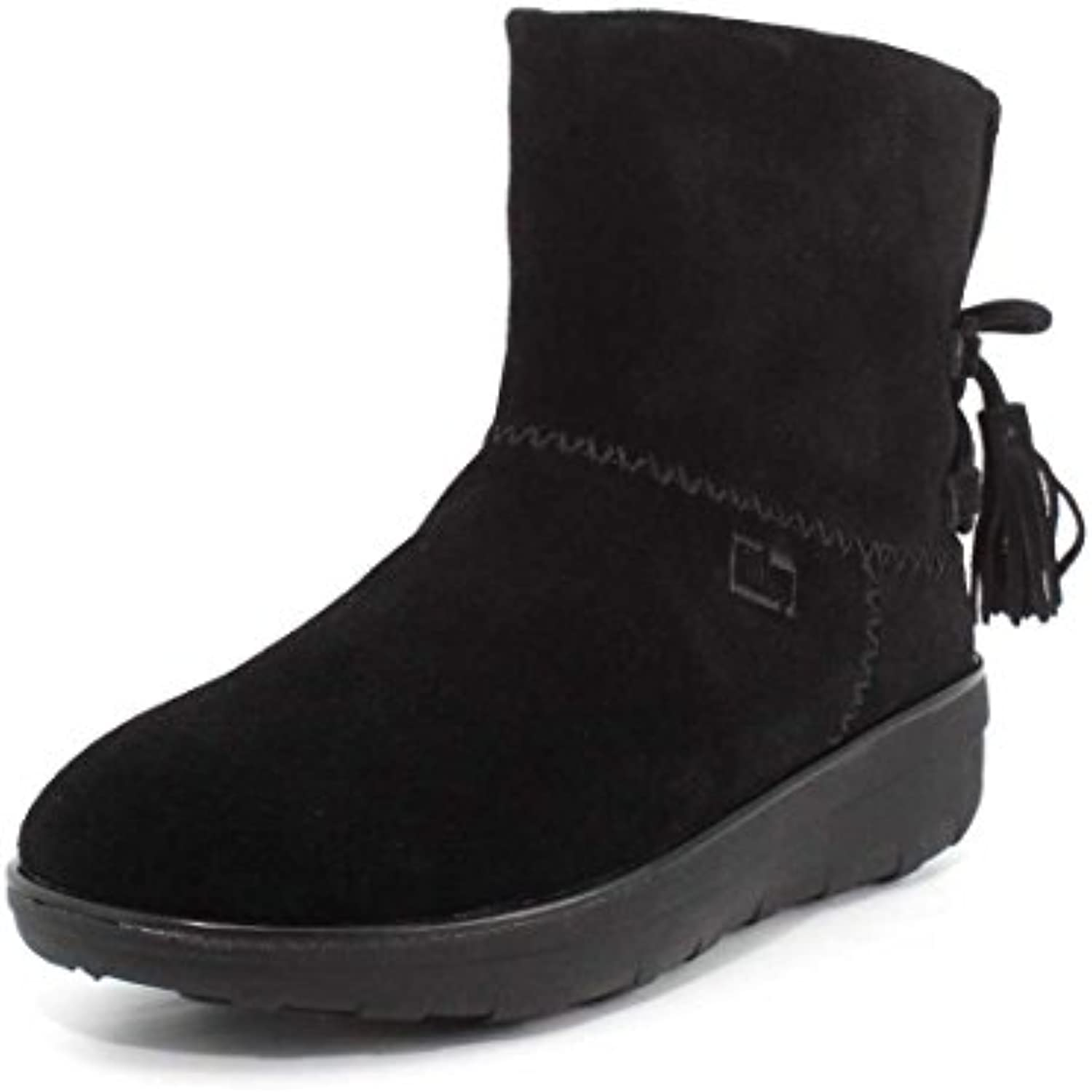 Fitflop Mukluk Shorty II Boots with T - Bota de Mujer, Color Negro, Talla 38