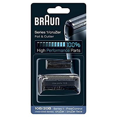 Braun Shaver Replacement Part 10B/20B Black, Compatible with Cruzer and Series 1 Shavers by Procter & Gamble