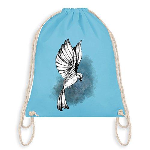 Shirtracer Vögel - Vogel Aquarelle Zeichnung - Unisize - Hellblau - WM110 - Turnbeutel I Gym Bag