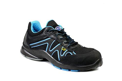 Lavoro 1269.11 Energy Range Wave Men Metal Free Sneaker, ESD, CE, S3, SRB, schwarz/blau, 10 Gr. - Size Mens 11 Wasser-schuhe